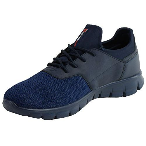 Alpine Swiss Men Sneakers Flex Tennis Shoes Athletic Navy, 8 US