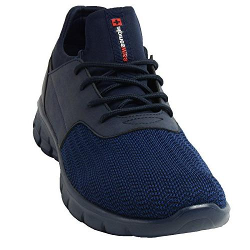 Alpine Men Sneakers Flex Tennis Navy, 8 D US