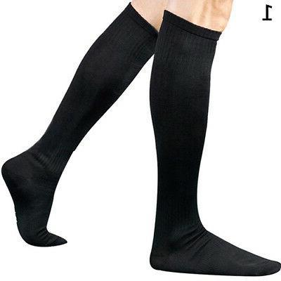 Men Boys Soccer Long Socks Knee High Hockey