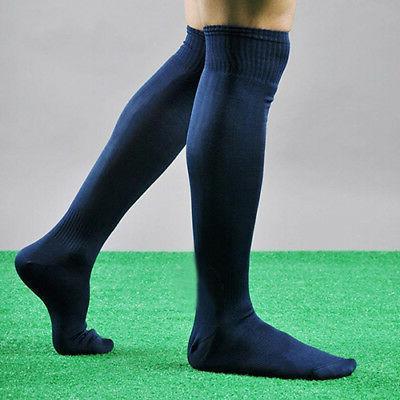 Men Sports Soccer Long Socks Over Knee High Hockey