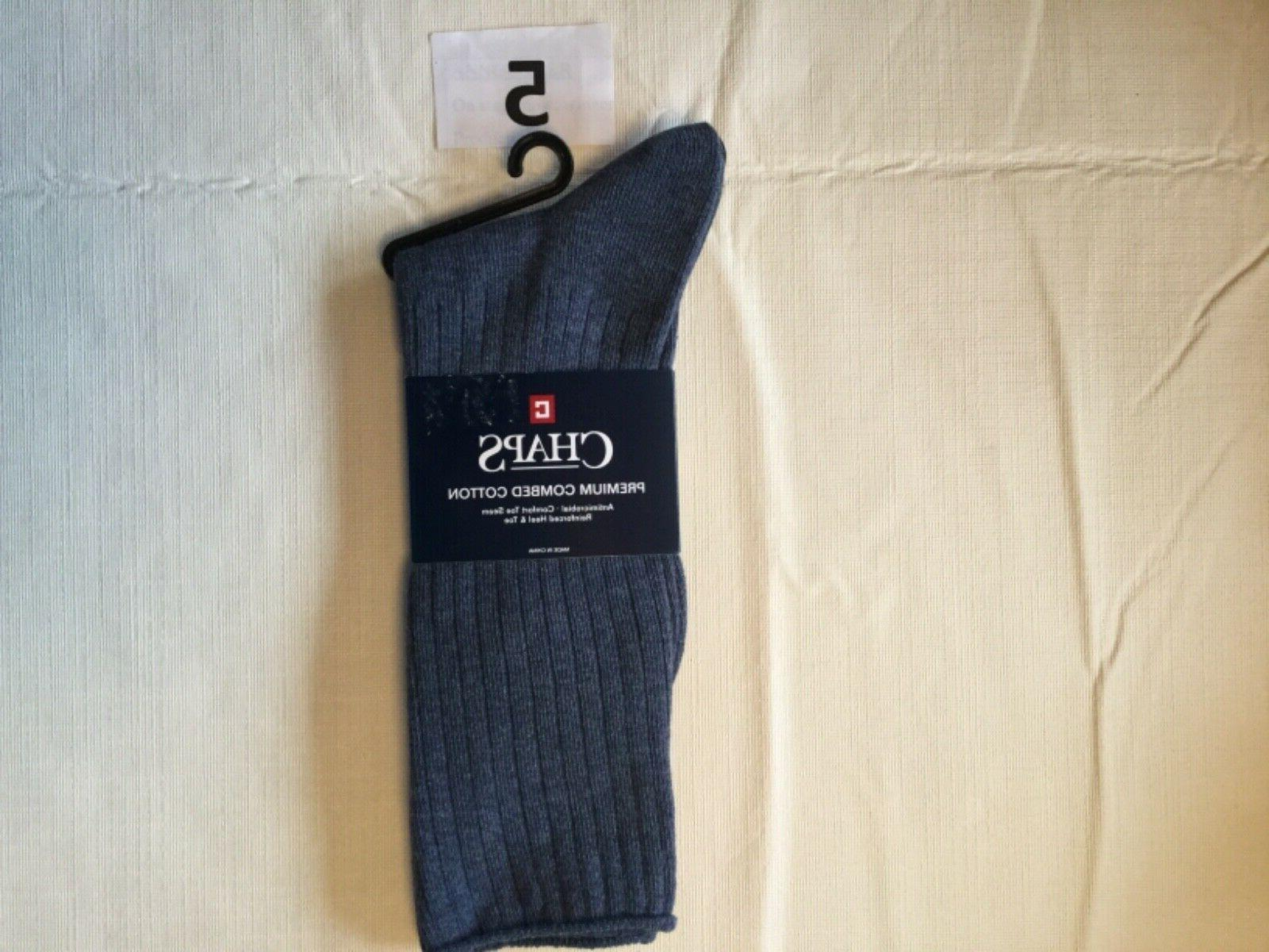 Chaps Socks Antimicrobial New Tag Green Gray