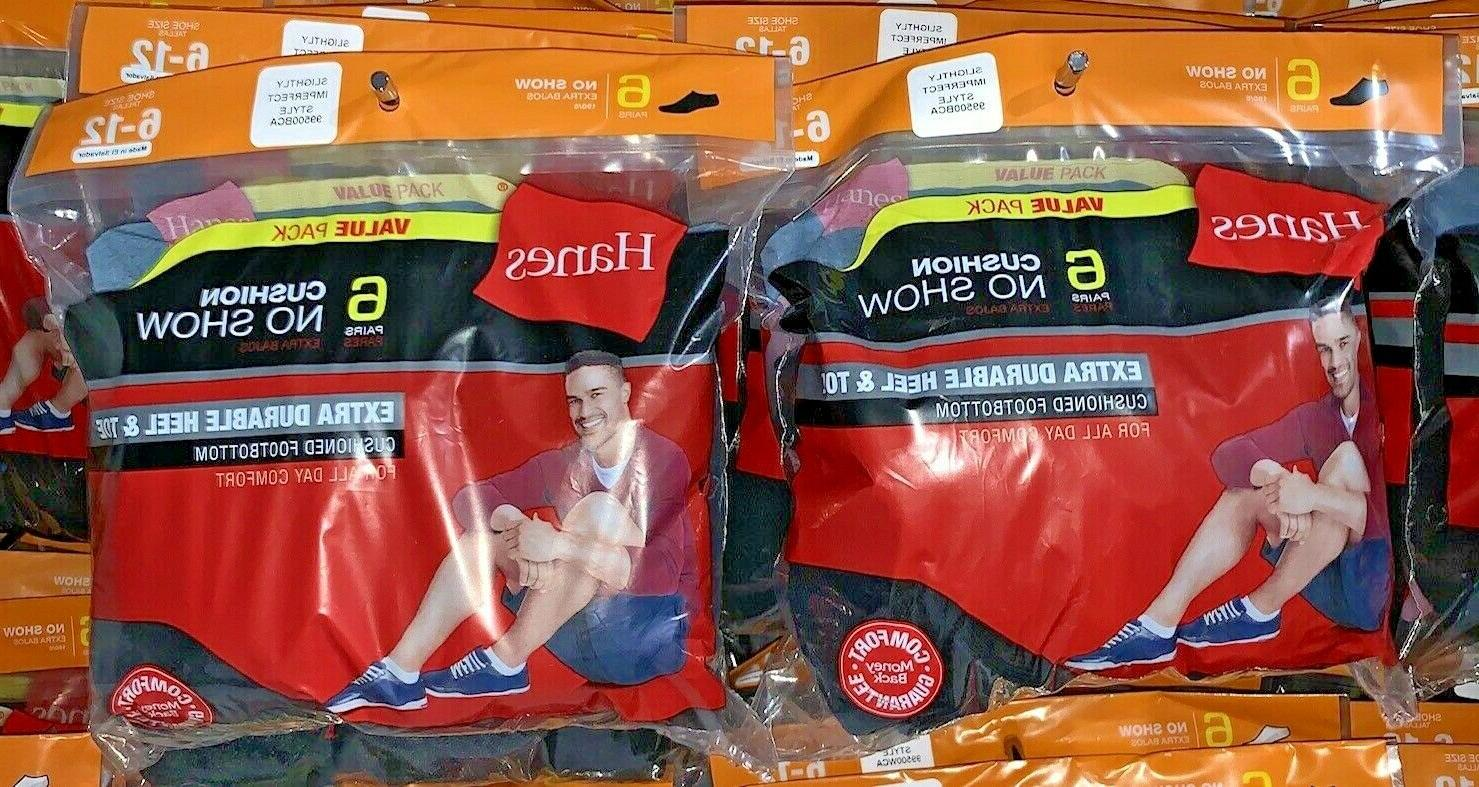 men s 6 pack no show socks