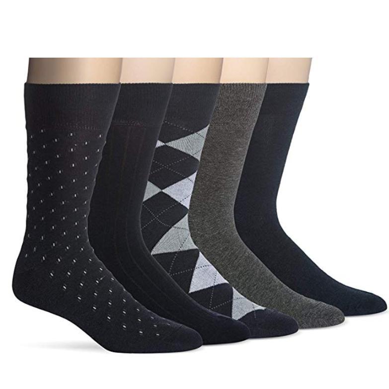 men s classic dress socks black