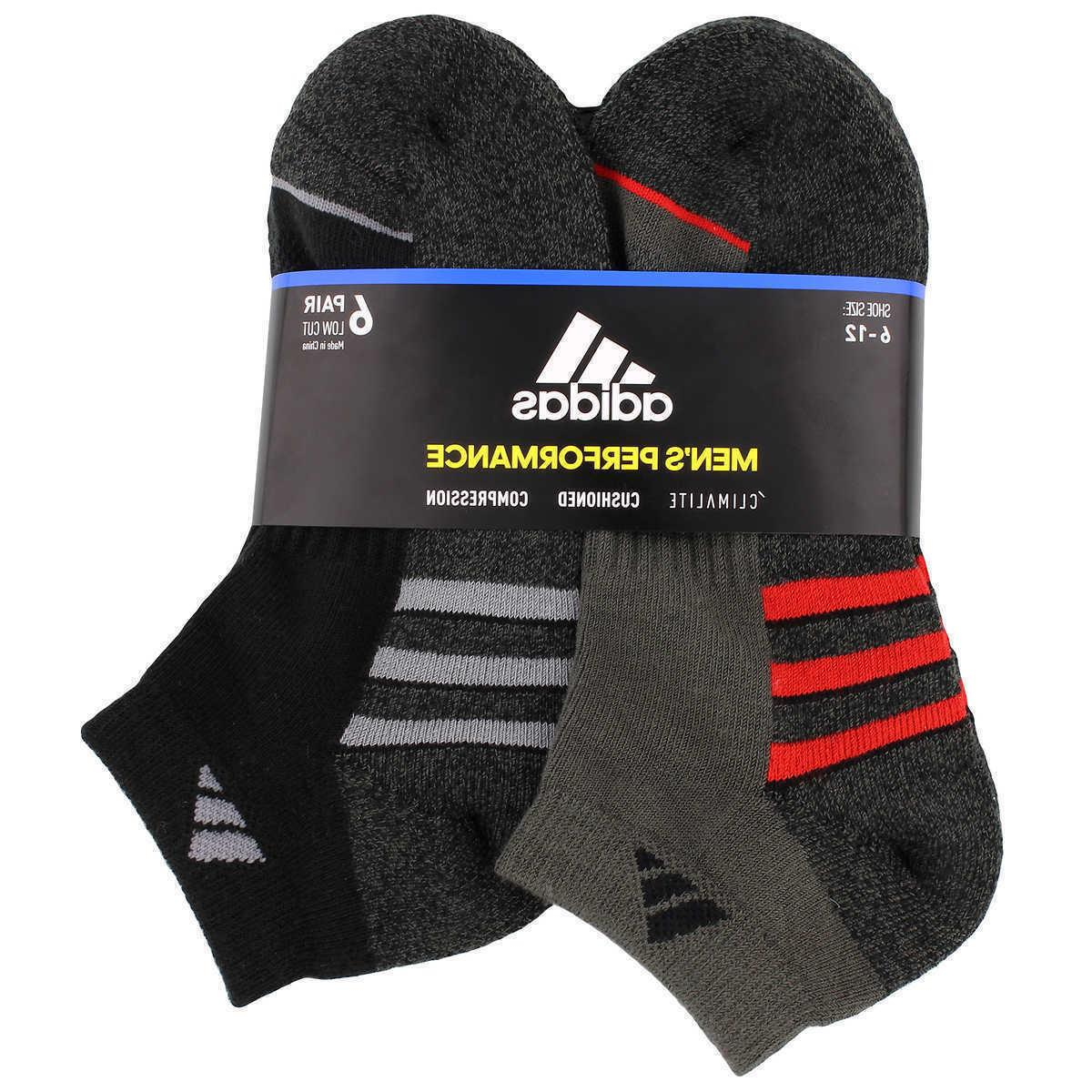 Adidas Men's Climalite Low Cut 6-pair Socks Regular Large Bl