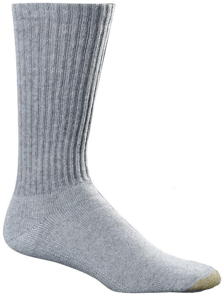 Gold Toe Men's Cotton Crew 6-Pack Socks - Large / Fits Men's
