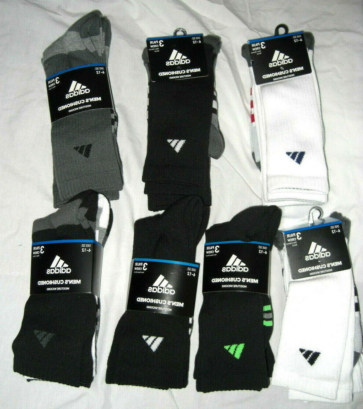men s cushioned moisture wicking crew socks