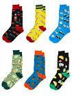 Men's Food Novelty Socks Size 10-13 Sushi Avocado Pineapples
