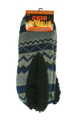 men s insulated thermal fleece lined slippers
