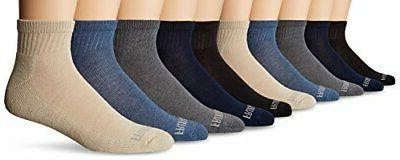 Fruit of the Loom Men's Pair Value Pack Ankle, Assorted colo