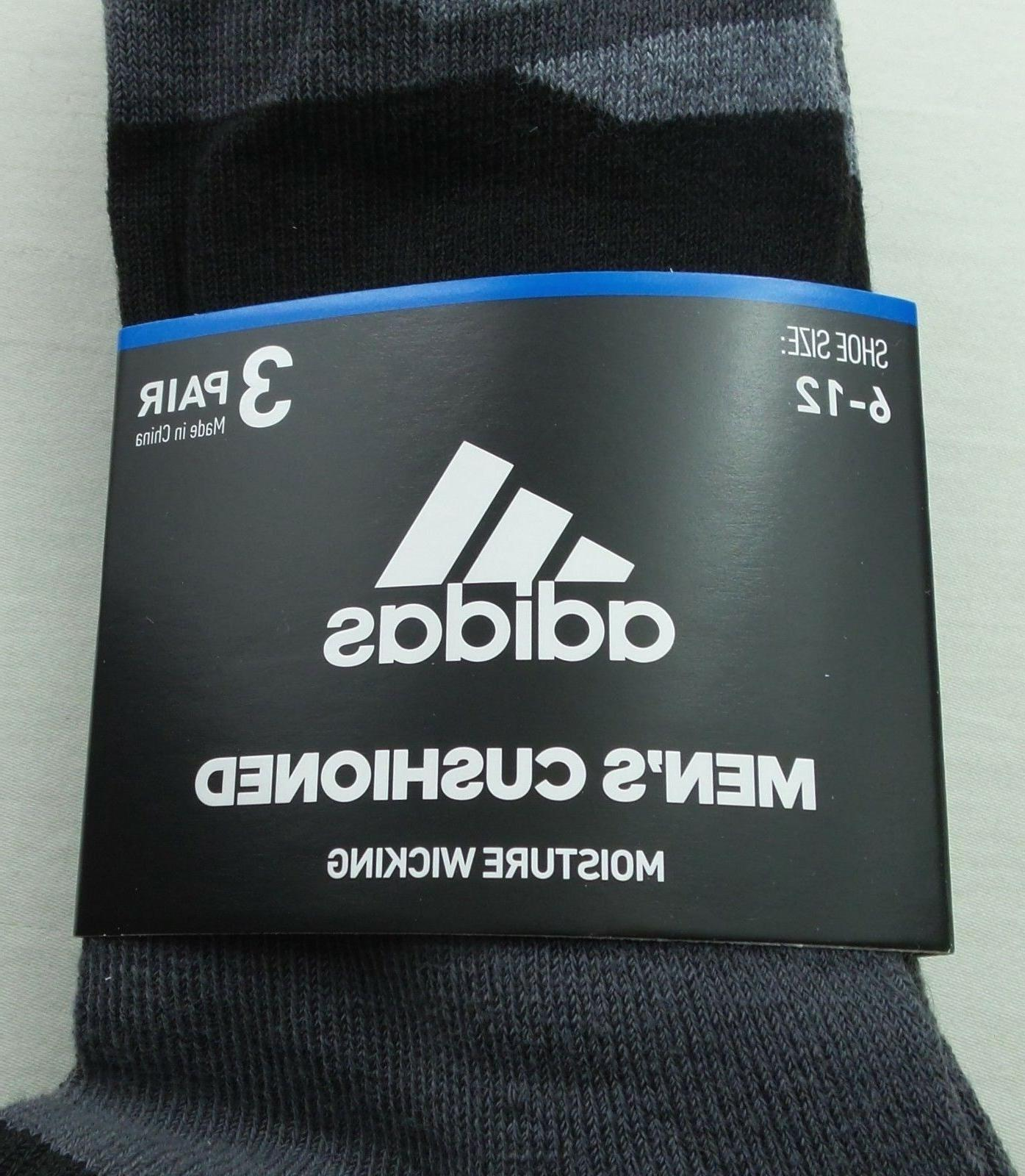adidas Crew Socks Large Black New Tag