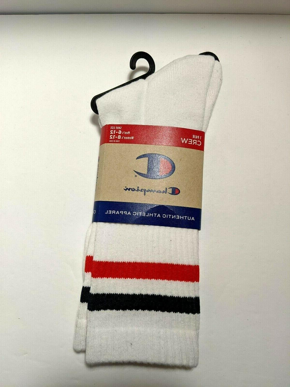 CHAMPION Men's Single Big C Socks Size Large Retro Style