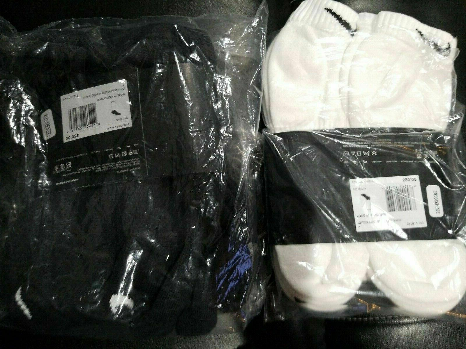 Nike Low Cut Black White Pack Pair
