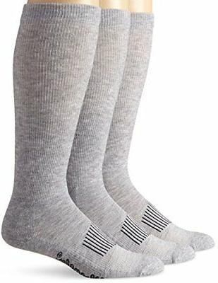 Wrangler Men's Western Boot Socks Pack of 3,Grey,Sock Size:X