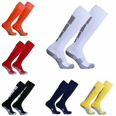 6 Colors Mens Football Soccer Socks Over Knee High Long Sock