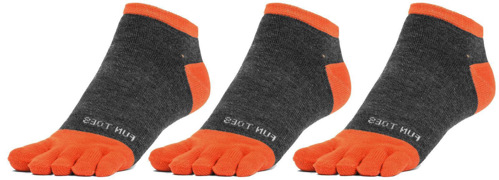 FUN TOES Men Toe Socks 3 Pairs High Performance Five Finger