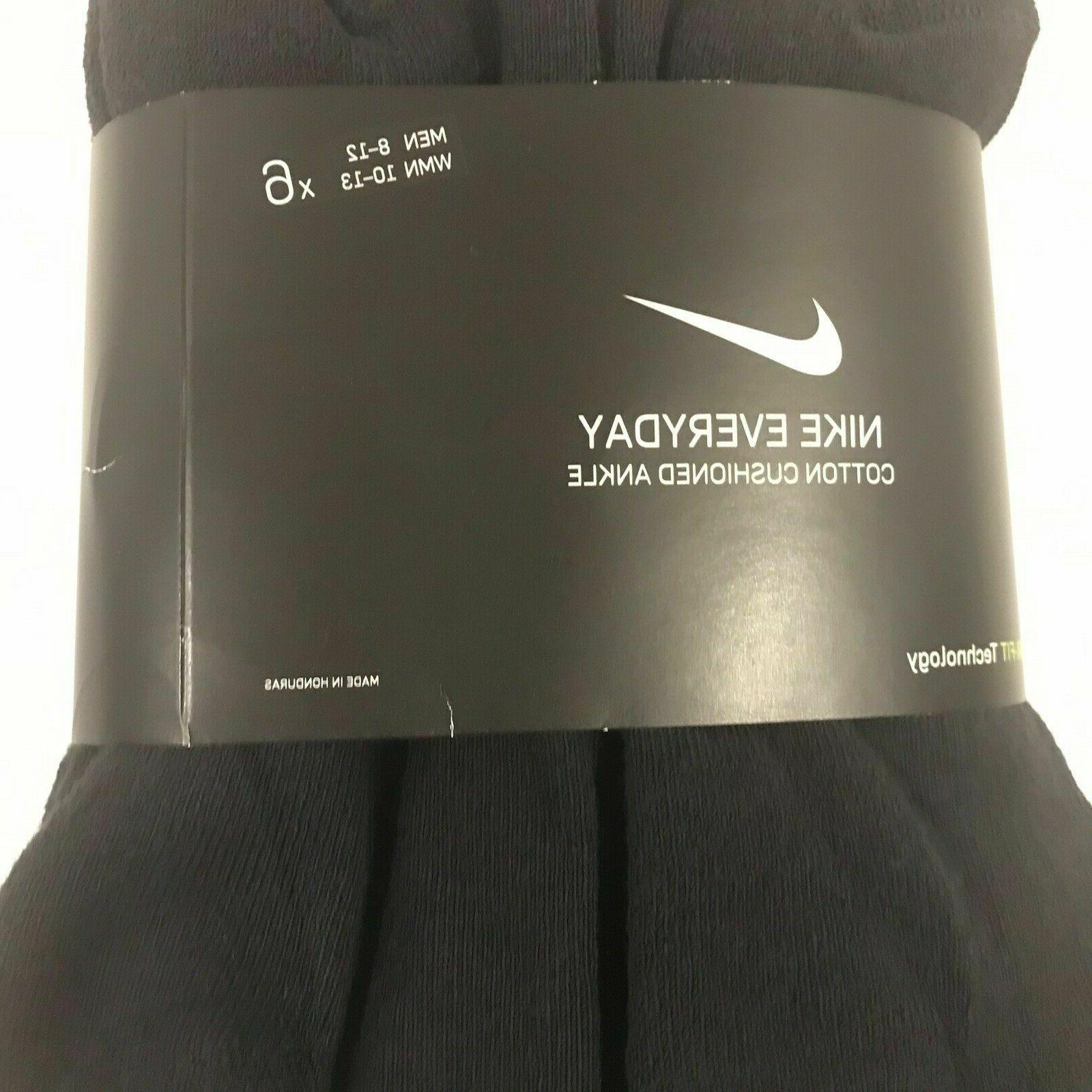 NIKE OR 6 PACK CUSHION COTTON QUARTER SOCKS