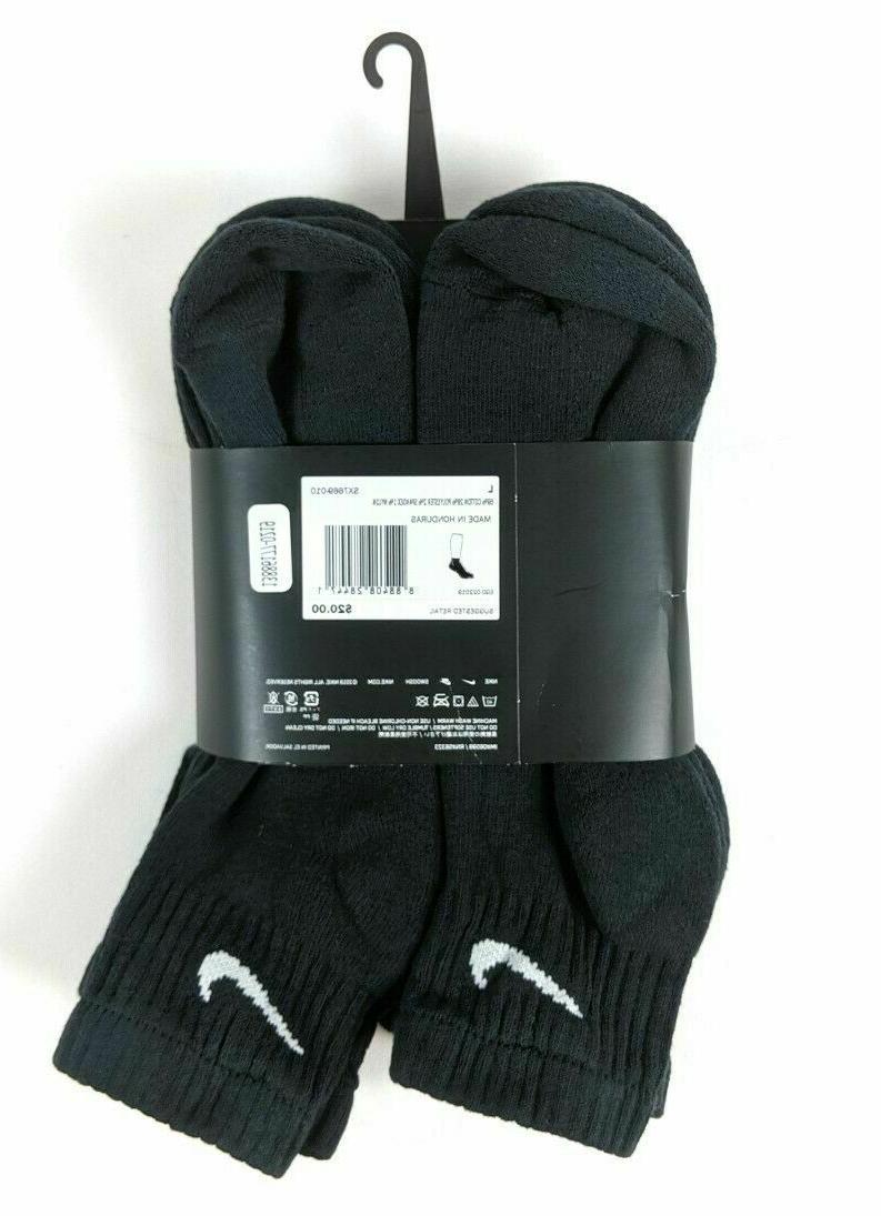 NIKE Mens OR 6 PACK CUSHION COTTON ANKLE SOCKS Shoe