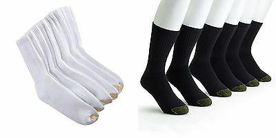Gold Toe Mens 3 Pairs Athletic Cushioned Crew Socks Extended
