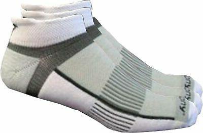 Saucony Mens 3-pk. Inferno White Running Socks Large White/g