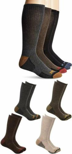 Timberland Mens 4 Pack Outdoor Leisure Crew Socks Black Brow
