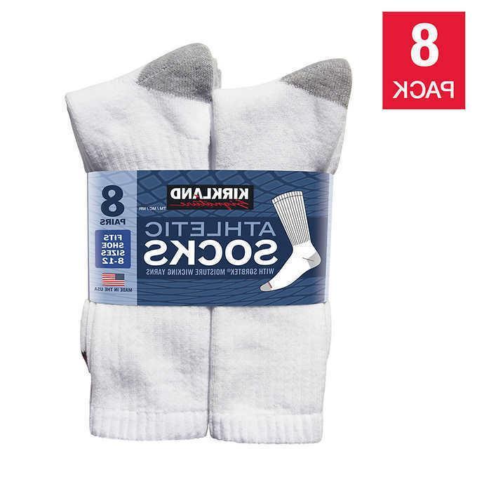 Kirkland Signature Men's Athletic Sock 8-pair, White