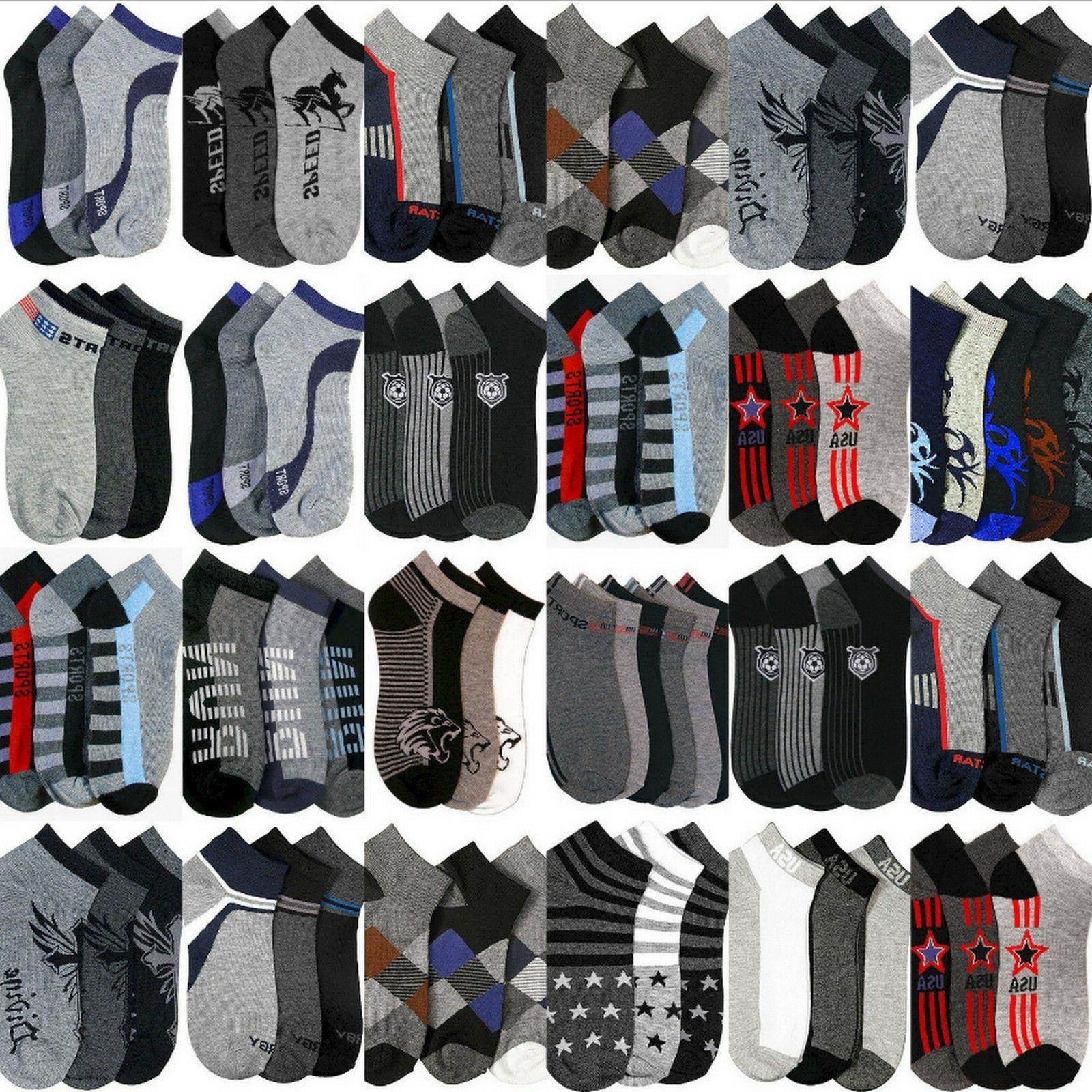 Boys Socks Size 6-8 Year Old Bulk Wholesale Assorted Low Ank