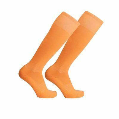 Mens Cotton Sport Football Soccer Long Hockey Knee High Socks