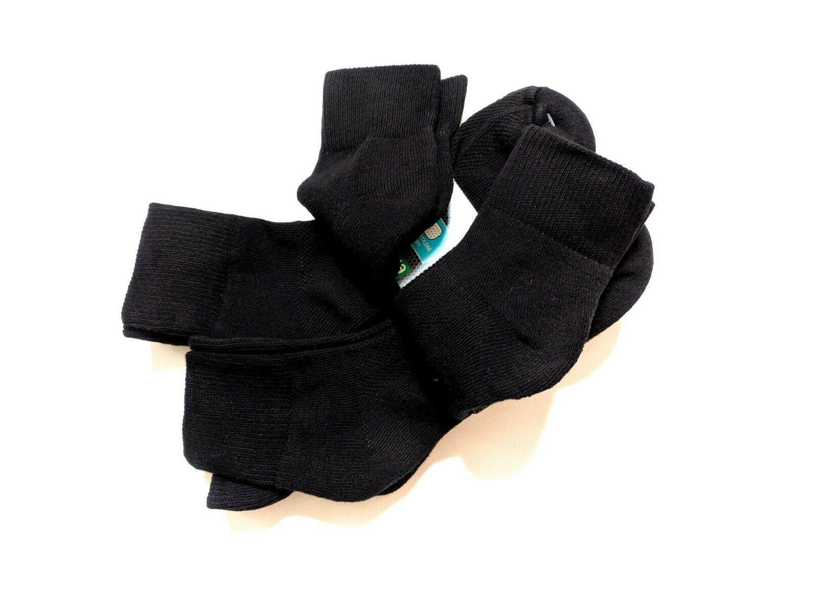 Fruit of Mens Shoe 12-16 XL Black 6-Pair NEW