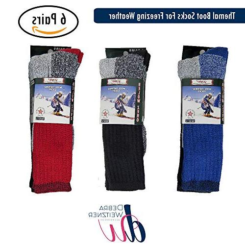 Mens Socks Extreme Cold Socks 6-pack WEITZNER, B,