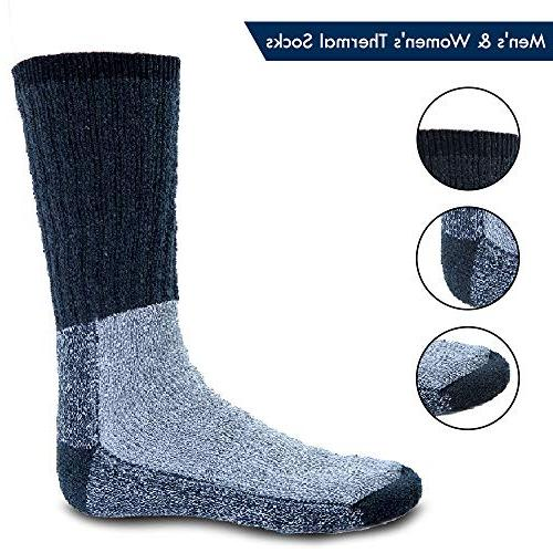 Mens Extreme Cold Weather Socks 6-pack By DEBRA WEITZNER, B, 10-15