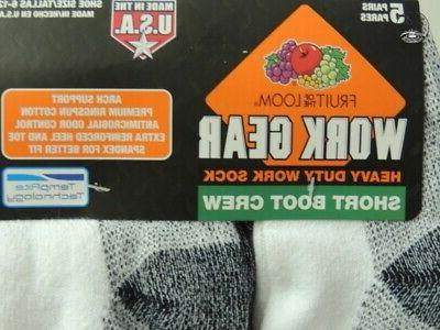 Fruit Of The Loom Mens Work Duty Size Lg