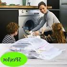 5x Laundry Mesh Zipper Wash Bag Nylon Net Clothes Underwear