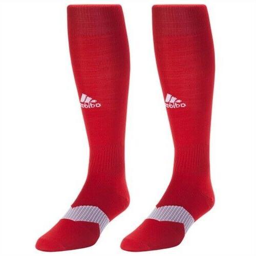 adidas Metro IV OTC Soccer Socks Power Red/White/Clear Grey