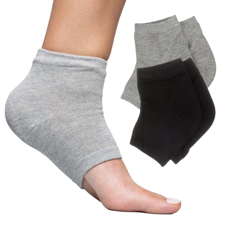 moisturizing heel socks 2 pairs gel lined