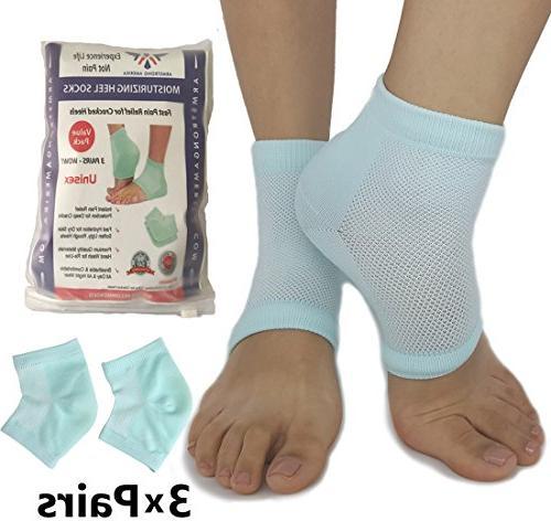 Moisturizing Socks Cracked Heels - Socks to Treat Dry Feet Fast, Rough Women Mens Heel by ARMSRONG AMERIKA