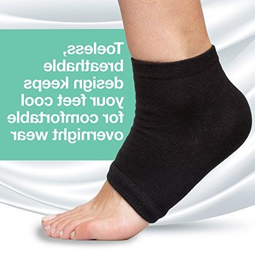 ZenToes Moisturizing 2 Toeless Spa Heal Cracked While You Sleep
