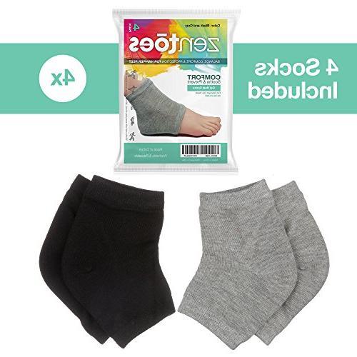 ZenToes Moisturizing Heel Socks 2 Pairs Toeless Heal and Cracked