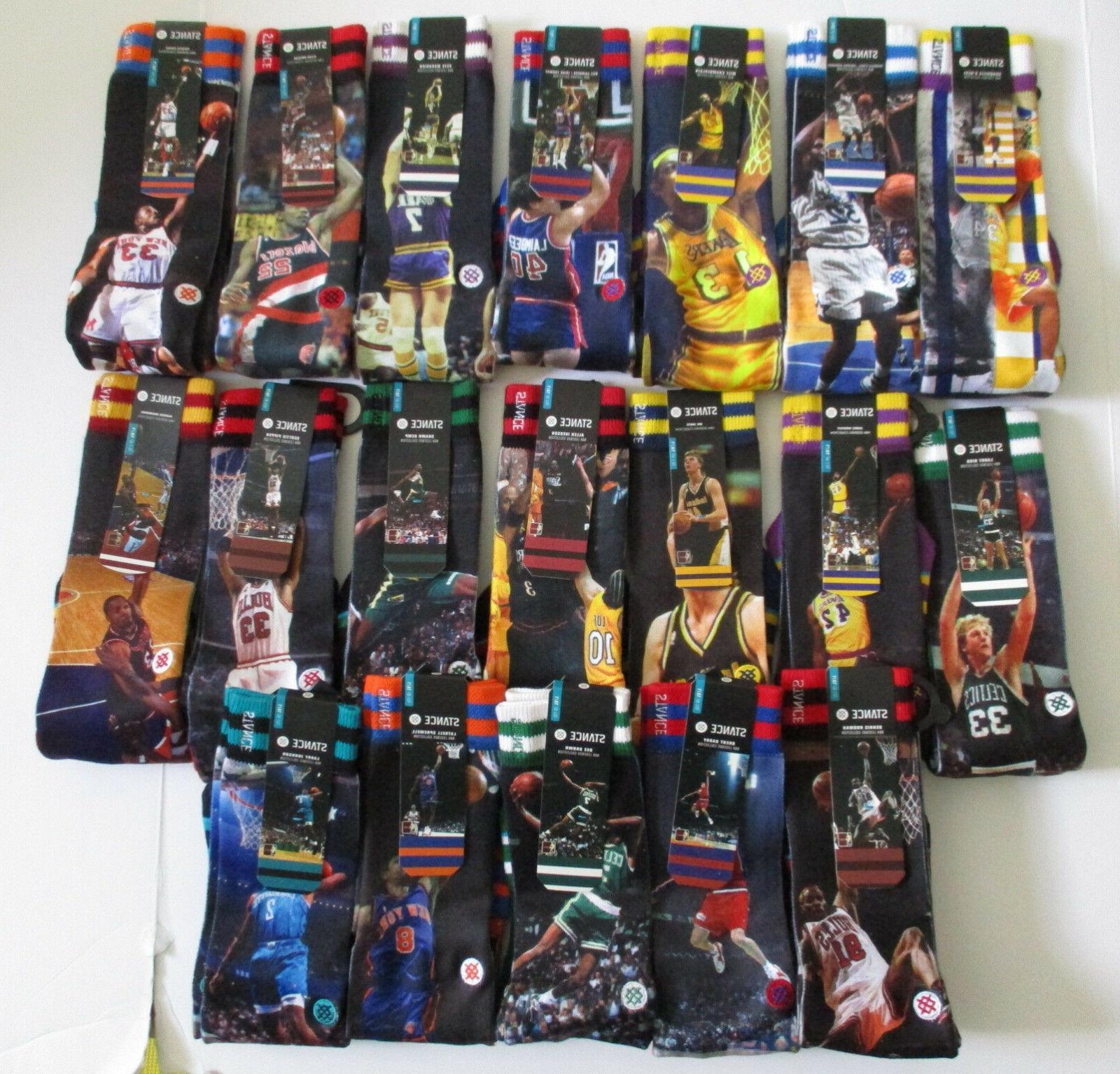 Stance Legends Mens L/XL NWT Ewing Shaq Rodman Many
