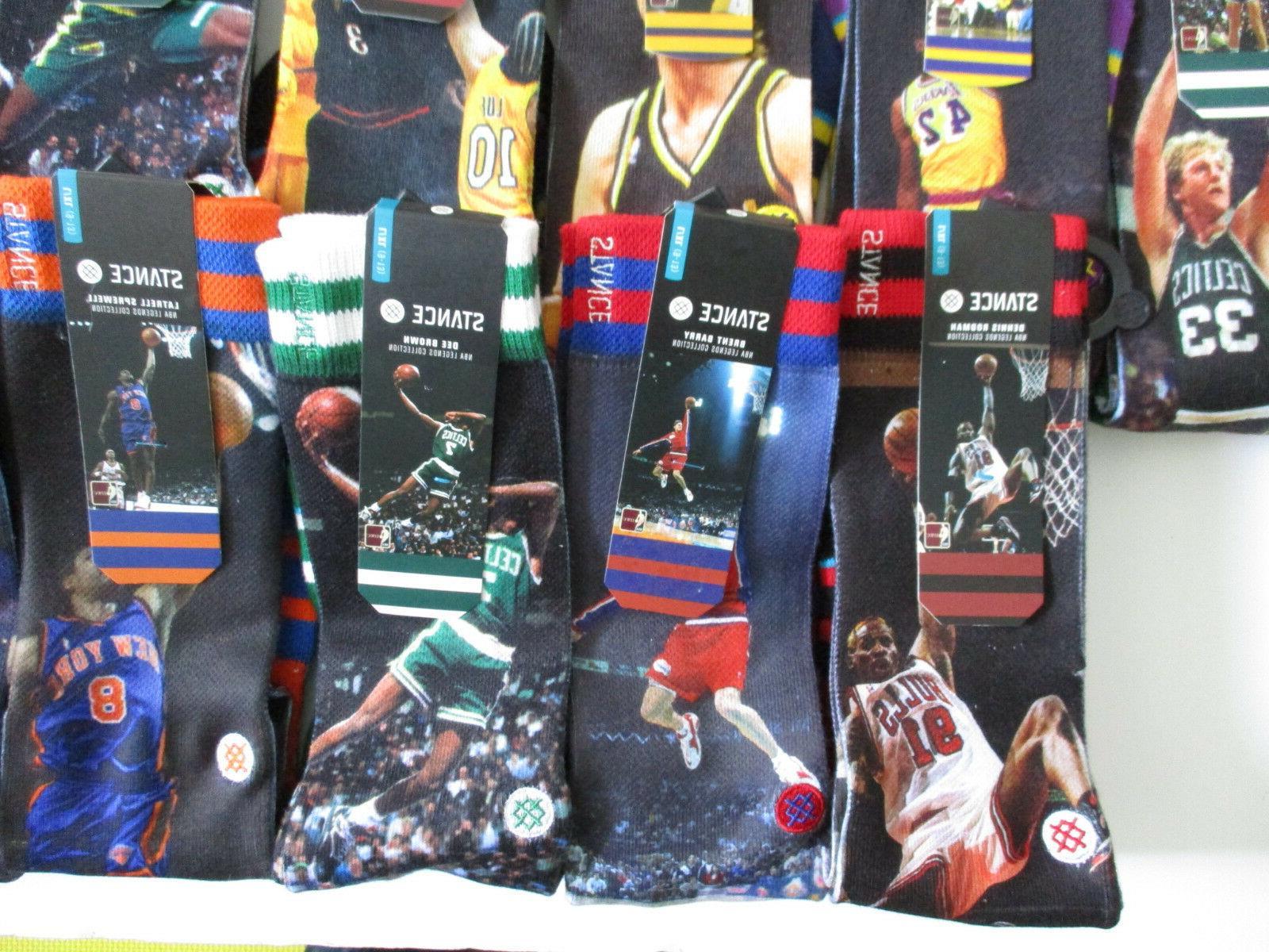 Stance NBA Legends Socks Mens L/XL Ewing Shaq Rodman Clyde Many