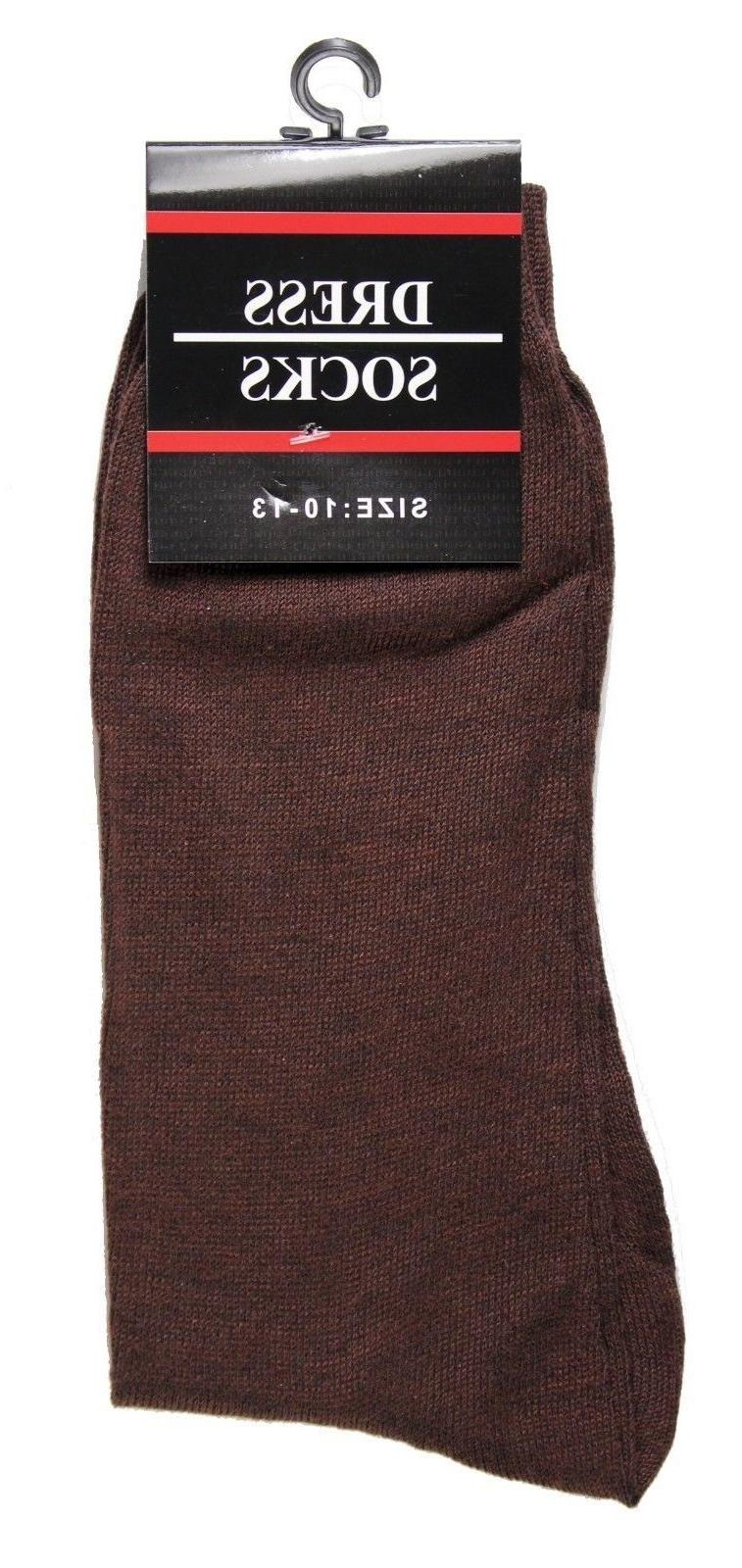 New 12 Pairs Classic Dress Socks Casual Cotton