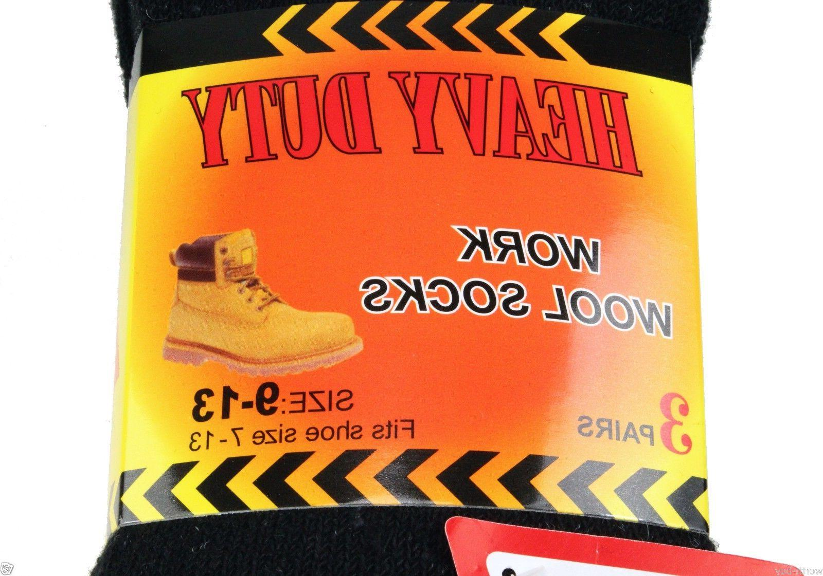 New 12 Heavy Duty Warm Boots Wool Socks Crew Thermal 9-13