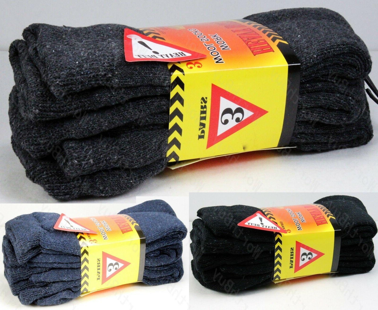 new 12 pairs mens heavy duty warm