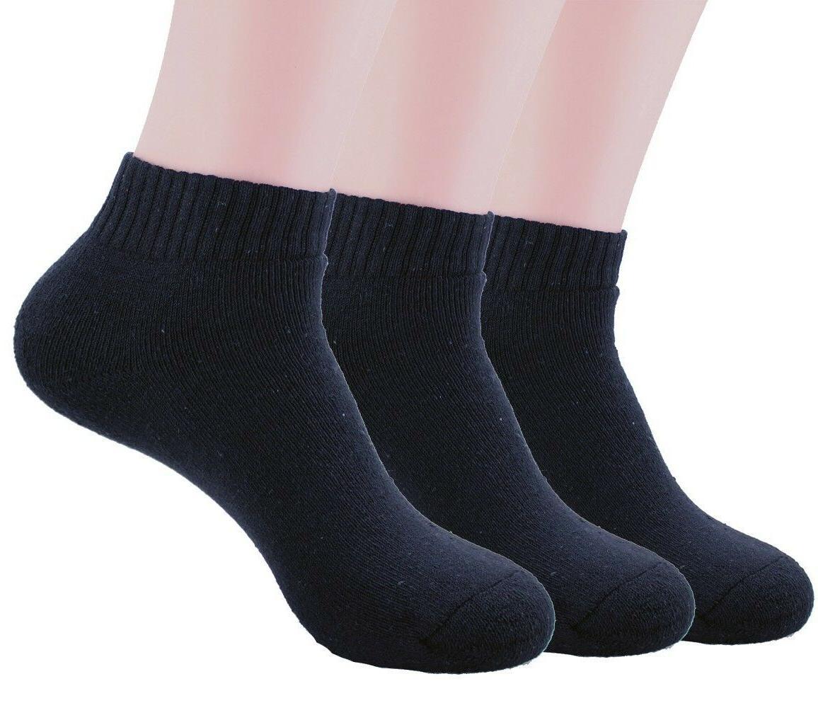 New Black Crew Socks Cotton Athletic