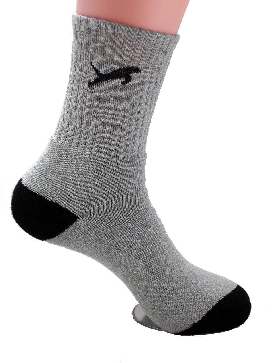 New Pairs Sports Crew Socks White Gray