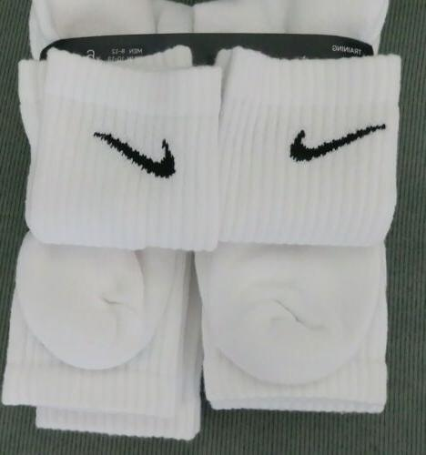 NEW 6 PACK Spandex Cushioned WHITE Socks