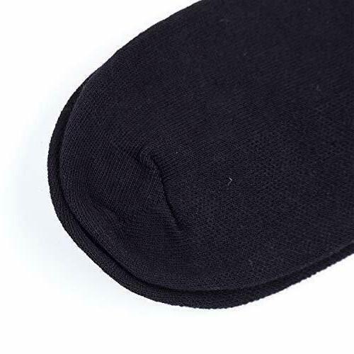 New 6 Mens Black Cotton Solid