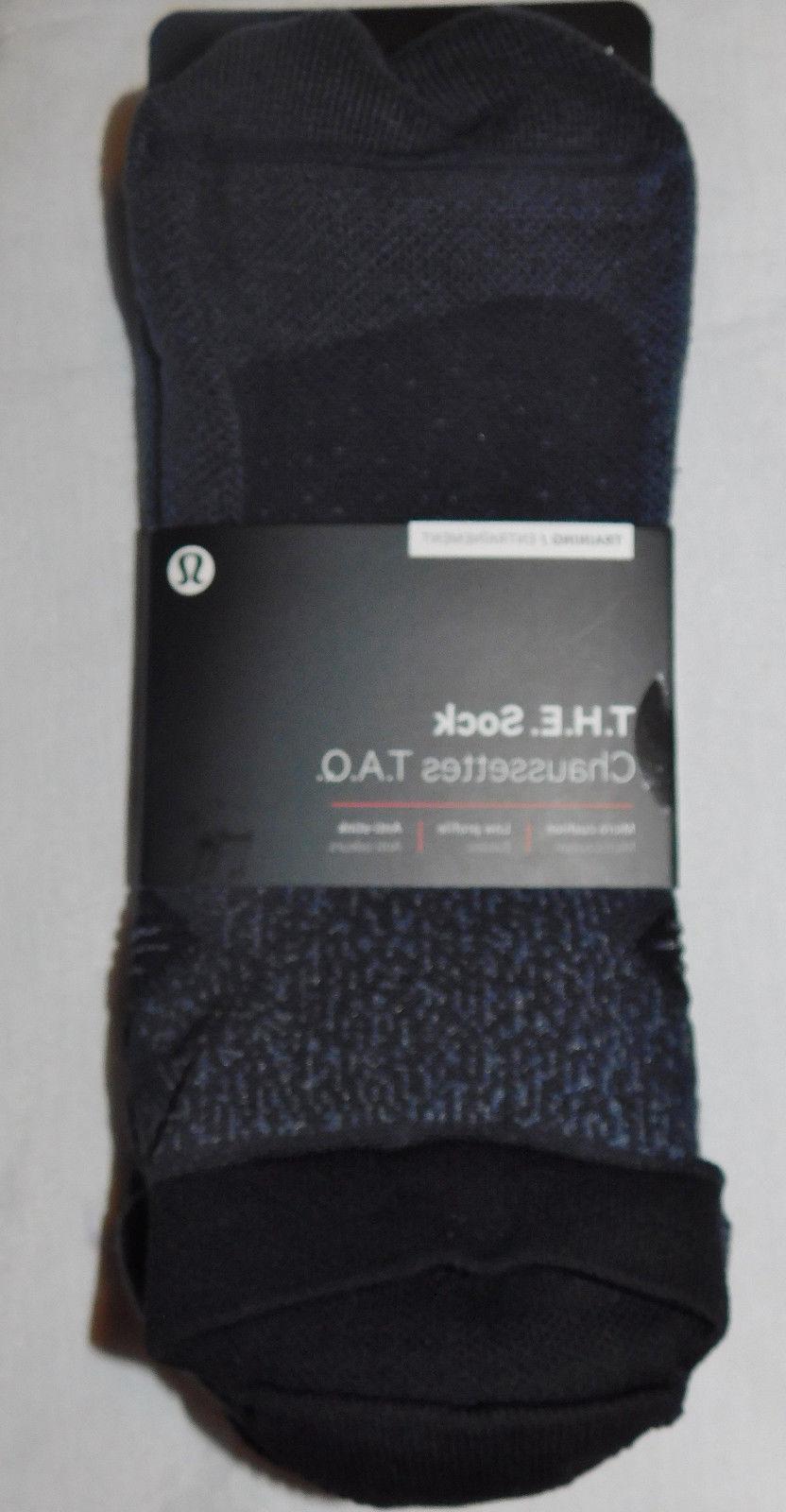 New Men's Lululemon T.H.E. Training Sock - MELN/DKCS - Size