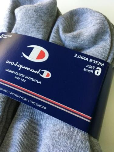New Mens Champion Sport Athleticwear Moisture Wicking Cut Socks