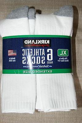 New NWT Men's Athletic Socks 6 pairs L & Big and Tall crew s