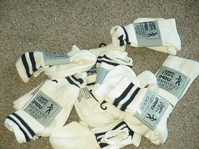 new socks usps 430xs certified postal white